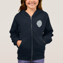 Clover Leaves Girls' Basic Zip Hoodie