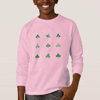 Clover Leaves Kids' Long Sleeve T-Shirt
