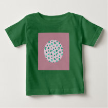 Clover Leaves on Pink Baby Jersey T-Shirt