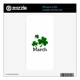 Clover Leaves iPhone 4S Decal