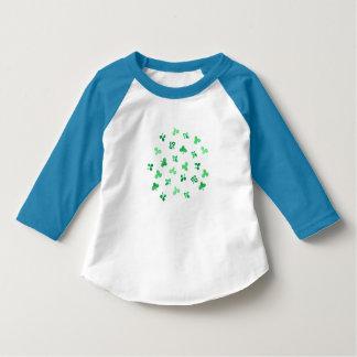 Clover Leaves Toddler Raglan T-Shirt