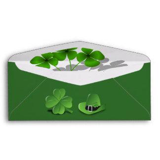 Clover Luck Irish Green Office School Business Envelope