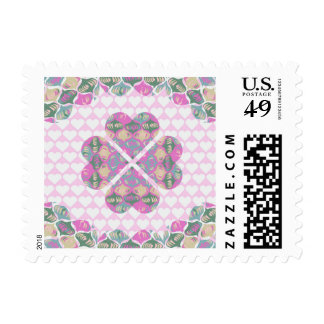 Clover Lucky in Love Valentines Day Stamp