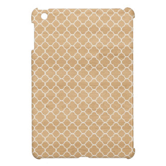 Clover Moroccan quatrefoil pattern faux wood chic Case For The iPad Mini