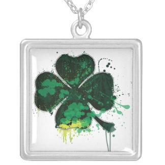 Clover Necklace (splatter)