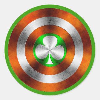 Clover of Ireland Classic Round Sticker