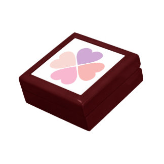 Clover of love of hearts by day of San Valentin Gift Box