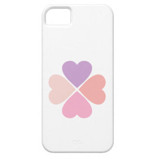 Clover of love of hearts by day of San Valentin iPhone SE/5/5s Case