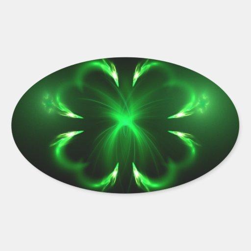 Clover Oval Sticker