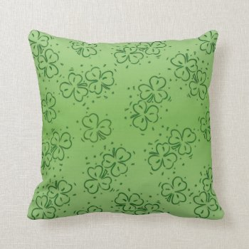 Clover Over and Over Throw Pillow