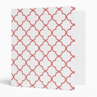 Clover Pattern 1 Cayenne Vinyl Binder
