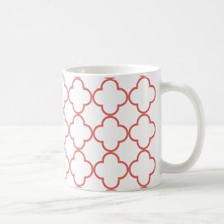 Clover Pattern 1 Cayenne Coffee Mug