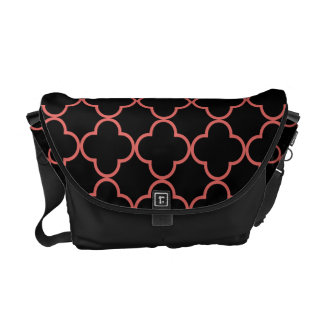 Clover Pattern 1 Cayenne Courier Bag