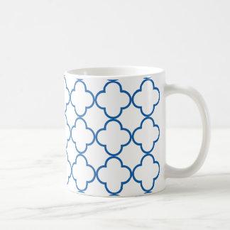 Clover Pattern 1 Dazzling Blue Coffee Mug