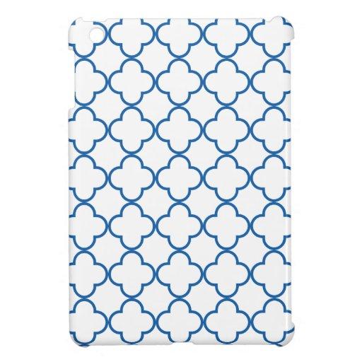 Clover Pattern 1 Dazzling Blue iPad Mini Covers