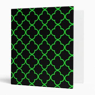 Clover Pattern 1 Green Binders