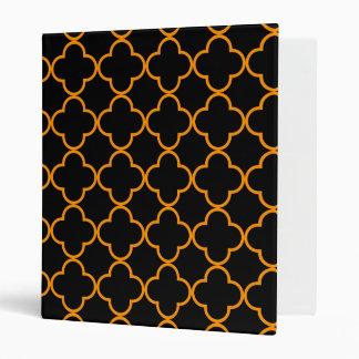 Clover Pattern 1 Orange Vinyl Binder