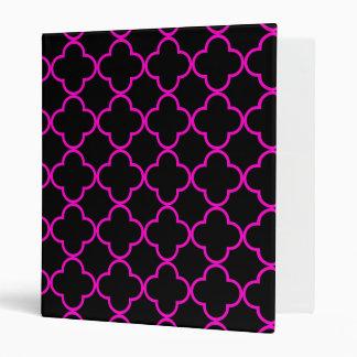 Clover Pattern 1 Pink Vinyl Binders