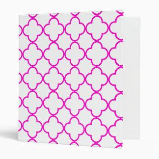 Clover Pattern 1 Pink Binder