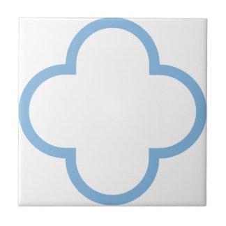Clover Pattern 1 Placid Blue Tile