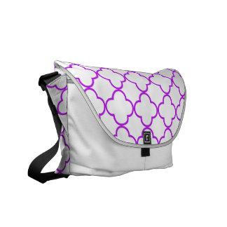 Clover Pattern 1 Purple Courier Bag