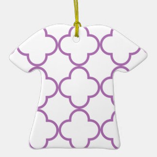 Clover Pattern 1 Radiant Orchid Christmas Tree Ornaments