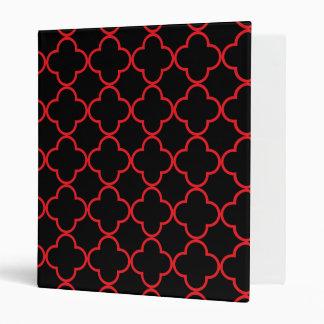 Clover Pattern 1 Red Vinyl Binders