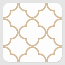 Clover Pattern 1 Sand Square Sticker