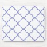 Clover Pattern 1 Violet Tulip Mouse Pad