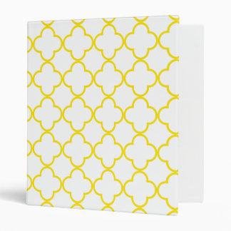 Clover Pattern 1 Yellow Binder