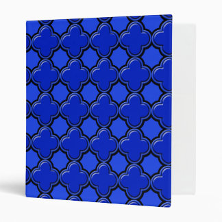 Clover Pattern 2 Blue Vinyl Binders