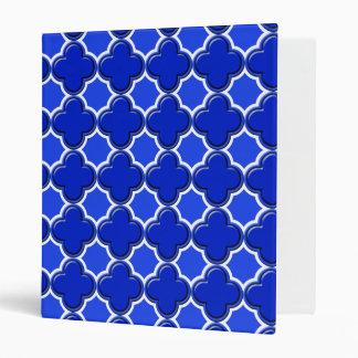 Clover Pattern 2 Blue Binder