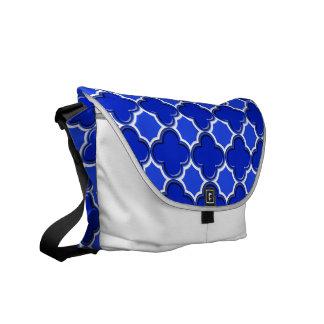 Clover Pattern 2 Blue Courier Bag
