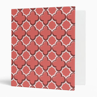 Clover Pattern 2 Cayenne Vinyl Binders