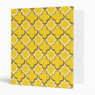 Clover Pattern 2 Freesia Vinyl Binders