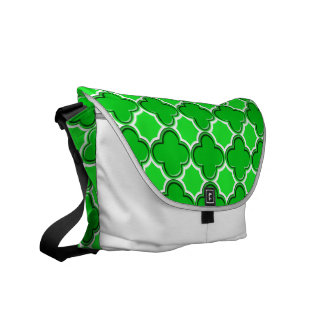 Clover Pattern 2 Green Messenger Bag