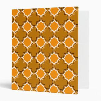 Clover Pattern 2 Orange Binder