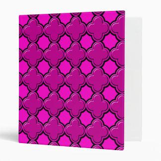 Clover Pattern 2 Pink Binders