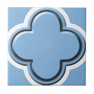 Clover Pattern 2 Placid Blue Ceramic Tiles
