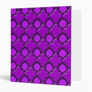 Clover Pattern 2 Purple Vinyl Binders