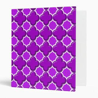 Clover Pattern 2 Purple Binder