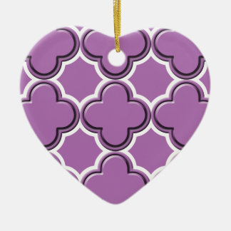 Clover Pattern 2 Radiant Orchid Ornament