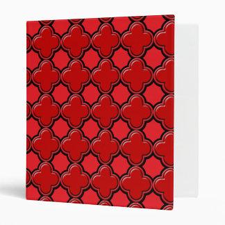 Clover Pattern 2 Red Binder