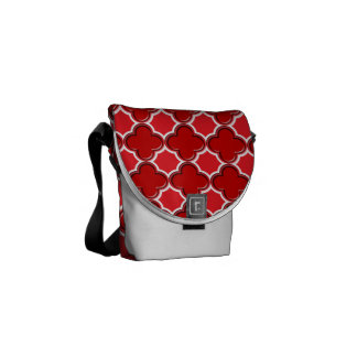Clover Pattern 2 Red Courier Bag