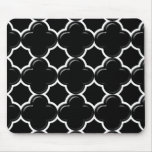 Clover pattern 2 white mousepads