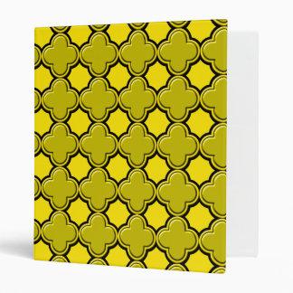 Clover Pattern 2 Yellow Vinyl Binder