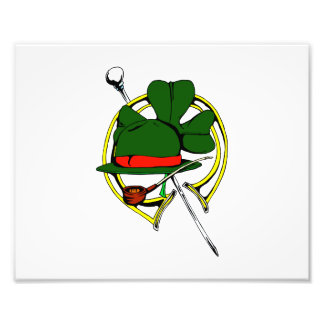 clover pipe hat saint patricks day graphic.png art photo