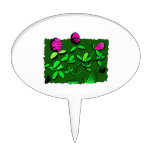 Clover plant graphic design.png cake pick