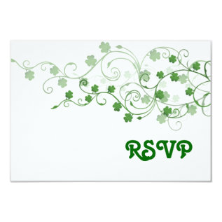 Clover RSVP Card at Zazzle