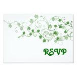 """Clover RSVP Card 3.5"""" X 5"""" Invitation Card"""